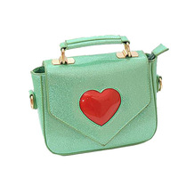 Candy Color  Messenger Bags WomenHit Color Heart Shoulder Bags Women Totes Cute Small Jelly Bags Vintage Handbag 5 Colors Totes