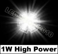 100pcs 1W White HIGH POWER LED Star 100LM 6500K 1watt lamp light