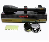 Hot  Gamo 3-12x50 AO Red + Green Illuminated Air Rifle Optics Hunting Scope Sight,Free shipping