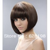 Short brown black mix BOB natural as real Hair Wig
