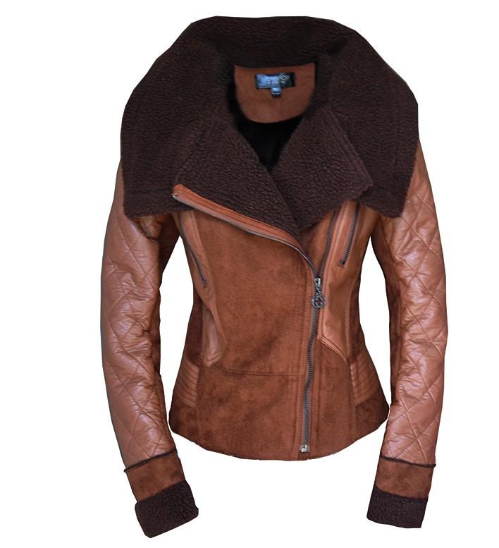 W.ZXS Hot-Selling 2014 Best NEW Women's Winter Fashion ONE FUR Coat Turn-Down Collar Female Sheepskin Wool-One Outerwear WZ02(China (Mainland))