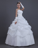 2013 New arrival wedding dresses Korea style bride Tube wedding Dresses wholesale and retail