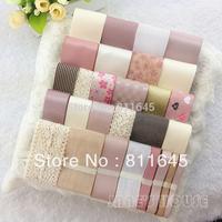 Sweet pink ribbon set diy hair accessory material diy lace and diy ribbon mix sales for handmade DIY Tape