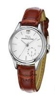 TSS Brand Simple Cheap Brand Quartz Men Watch Leather Lovers White Brown Strap Watch