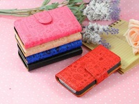 5color,Cute Magic Girl Flip magnet Credit card leather case cover For Samsung Galaxy Y Duos S6102 ,Free shipping