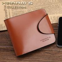 free shiping Wallet men's wallet male short design cowhide male purse genuine leather wallet