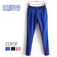2013 Spring&Autumn Women's Solid Color Casual Pant Trousers OL Ladies ' Harem Pants Fashion All-match Slim Fit Pencil Pants