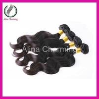 Mocha hair Indian virgin hair extension body wave machine weft 4pcs lot 400g/lot 100% human natural color 1b#  free shipping