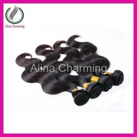 Best Selling Ms Queen Hair Brazilian virgin hair extension body wave 4pcs/lot 400g/lot unprocessed hair color 1b# Free shipping