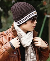 Hot Selling New 2013 Neon Knitted Men's Winter Hat Autumn Sport Beanie  Men's Warm Casual Cap Free Shipping men hats