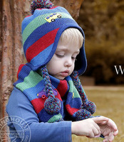 winter baby sale2013 new scarf knitted baby car spring tide edition models of child hat+ scarf piece fittedcheap beanies
