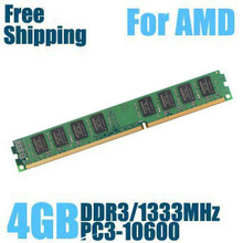 Brand New Sealed DDR3 1333 / PC3 10600 4GB  Desktop RAM Memory only compatible with AMD processor / Free Shipping!!!(China (Mainland))
