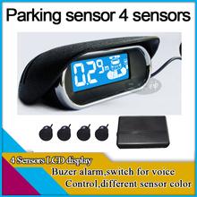 Датчик парковки с 4, Жк-дисплей, Зуммер алам, Беспроводной для варианта, Стоянка для автомобилей система