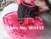 2014 New Rose Sexy Dog Wedding Dress Pet Spring And Summer Clothing  Hotting