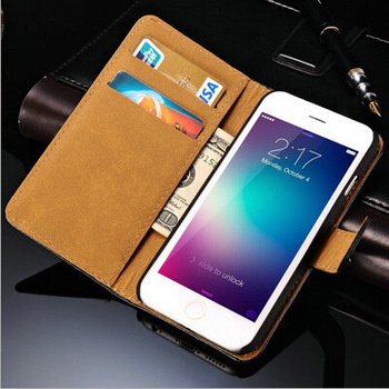 """New Arrival Luxury Flip Leather Case Wallet Pocket Card Holder Mobile Phone Case With Stand For iphone 6 4.7"""""""