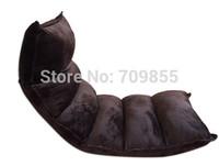 Sofa set living room furniture floor seating adjustable headrest multi-functional dark coffee color Futon lounge chair living