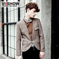 Blazers for men 2013 suits & blazers viishow tide brand men's casual  Slim suits mens suit jacket short  Autumn new solid coffe