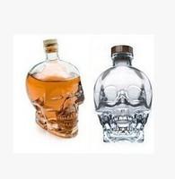 High Quality  Glass Wine Skull Bottle