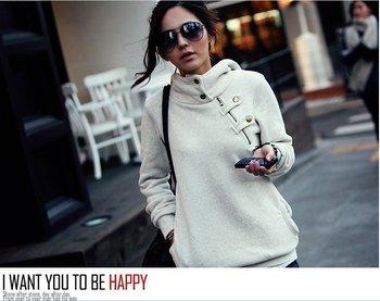 New 2015 Women Hoody Sweatshirt Plus Size Fashion Girls Hoodies Winter Outerwear Parka Coats Fleece Warm Moleton Women Pullovers