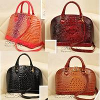 2014 Fashion Handbag Evening Bags Crocodile Pattern Shell Bag Women Leather Handbags Handbags Designers Brand+GIFT
