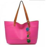 Fshipping women leather handbags shoulder totes designer  high quality solid handbags 2013 fashion Tassel Ornaments