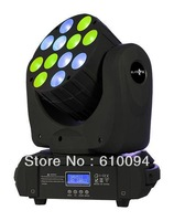Free shipping Led RGBA Beam 120w (12X10w) Moving Head 15CH DMX Wash Stage Effect