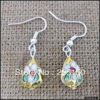 Free Shipping Cloisonne Earrings / Boutique Earrings / Vintage Earring