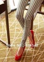 Free Shipping High Elastic Abstract Printed Birds  Nine Minutes Of Pants For Women