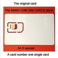 SIM Cards  & special blank SIM card&MicroSim card no. & single