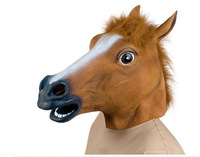 Creepy Horse Mask Head Prop Novelty Latex Rubber Costume Theater   Halloween Party Celebration Free Shipping