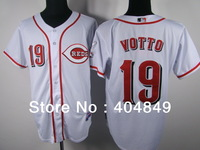 AA+ 19 multiple Joey Votto jersey,reds new home white gray red pink all star authentic,women youth custom baseball free shipping