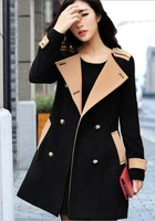 New arrival EU 2013 AUTUMN & Winter vintage High street women classic double breasted costume/long sleeve casual downTrench coat