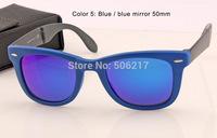 100% UV brand new women men wayfarer folding sunglasses original box case 4105 6020/17 Blue mirror rb flash lenses 50mm 54mm