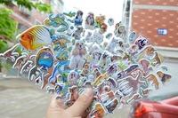 100pcs \ lot Value sticker \ partial male children cartoon stickers toys \  stereo sticker \ \ Preschool\Free shipping