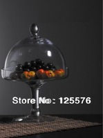 Bestselling ,Dia21 x H29cm Glass Cake Stand Plate & Dome,Cake Dome,Cake Plate,Retain Freshness For Food Kitcherware,Home Decor