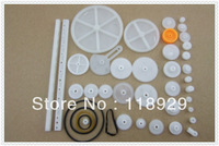 34PCS a lot,Plastic gear,rack, pulley, belt,Worm gear,Single-and double-gear,8-56 teeth