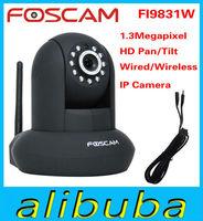 Black FOSCAM FI9831W HD 960P 1.3 MegaPixel indoor Pan/Tilt Wireless IP Camera Free DDNS