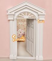 iland 1:12 Dollhouse Miniature Luxury Wooden White Exterior Door OA011KB
