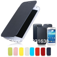 New Ultra Slim Flip PU Leather Case Battery Back Cover For Samsung Galaxy S4 MINI