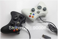 Wired controller for xbo 360+Free Shipment  with white or  black color