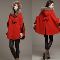 Free shipping fashion women's clothing in Europe and the lovely autumn winter fur coats cape coat collars cloak shawl shawl