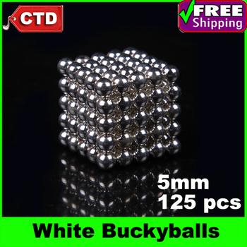 White 125pcs Diameter 5mm Neocube Magic Cube Magnetic Balls Buckyballs