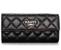 Free Shipping women's wallets Diamond fashion style bags brand designer wallets women genuine leather purses black moneybags