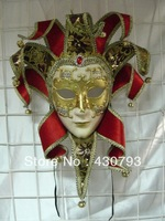 Free Shipping Wholesale Hand-Painted  Three-Dimensional Ornamentation,Full face party Mask,Venice Style,Colorful