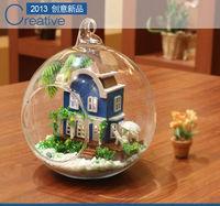 Cute Mini Aegean Sea Wooden Doll House Free Shipping DIY Dollhouse
