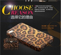 Classic Leopard case 7 Kinds of style mixed batch mobile phone case noverty iterm for iPhone 5/5S Free shipping(100pcs/lot)