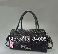China Wholesale Women Leather Handbags Hello Kitty 7301 Fashion Bag  Black Color (1 piece) Free Shipping