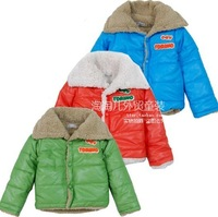 Child plus velvet thickening wadded jacket outerwear male child berber fleece wadded jacket female child wadded jacket outerwear