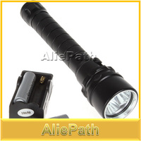 4000 Lumen 30W 3X CREE XML T6 LED Diving Flashlight Torch 100M Underwater Waterproof LED Flash Light + 18650 Battery + charger