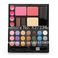 Free  Shipping ! New Cheek Cosmetics Palette Powder Cake 21Color Blush Eyeshadow Makeup Lip Gloss Kit H0811